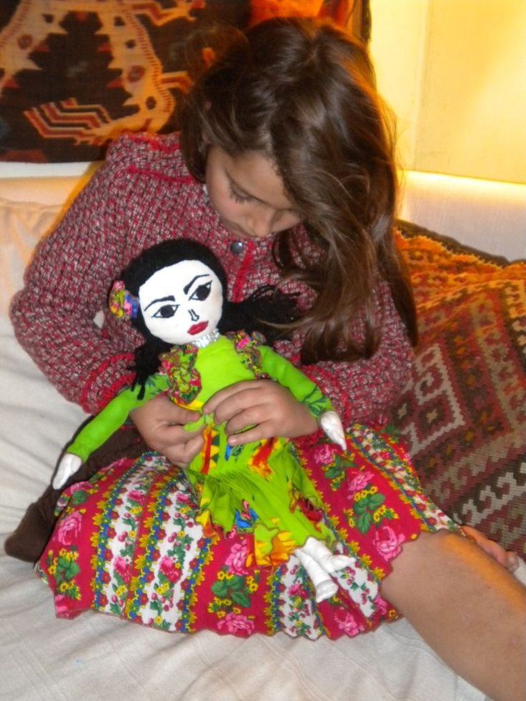 Handmade Roma doll made by Romani Design
