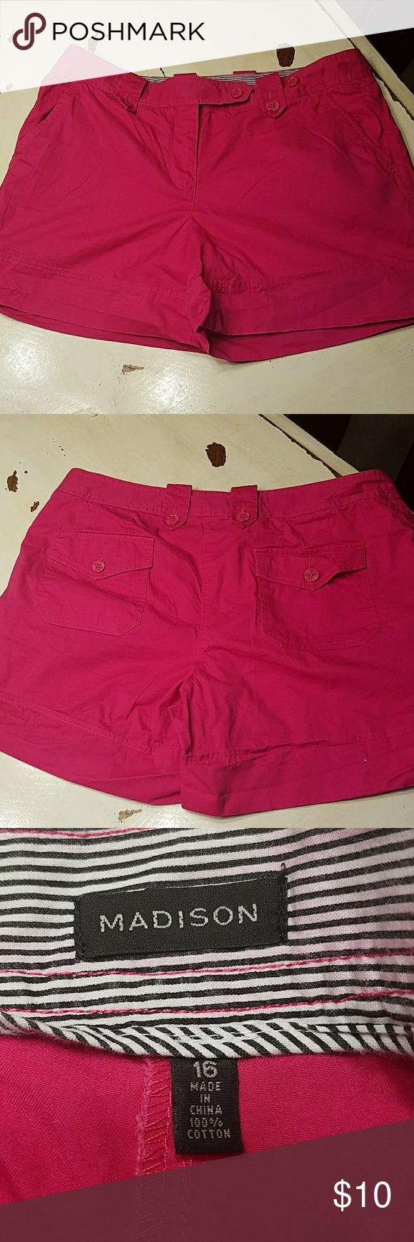 EUC Pink shorts! Excellent Used Condition. Hot pink shorts. Madison Shorts