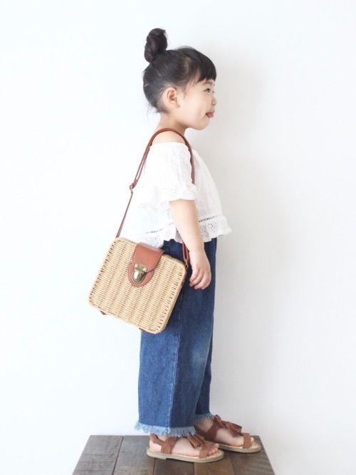 tops▶︎ZARA このバッグ、財布とケータイだけ入れて園バスの送り迎えするとき重宝してます♡笑