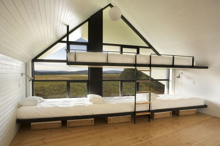These bunkbeds make me want to change our cabin layouts...planning for the future - 12 different bunk bed ideas.
