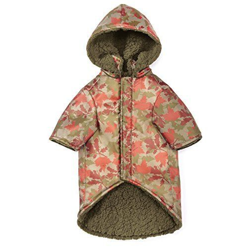 Zack & Zoey Elements ThermaPet Camouflage Thermal Coats-Innovative Water-Resistant Coats for Dogs Designed to Keep Pets Warm Using Their Own Body Heat, Not Electricity
