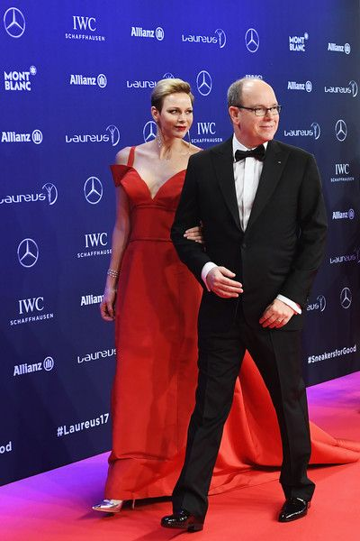 Princess of Monaco Photos - Prince Albert II of Monaco and his wife Charlene,Princess of Monaco attend the 2017 Laureus World Sports Awards at the Salle des Etoiles,Sporting Monte Carlo on February 14, 2017 in Monaco, Monaco. - Red Carpet - 2017 Laureus World Sports Awards - Monaco