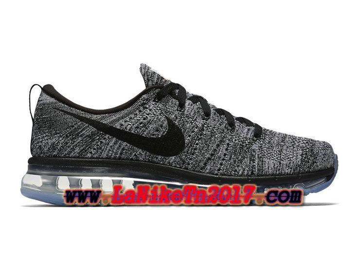 Homme Nike Flyknit Air Max Gris Noir Chaussures de Running Pas Cher 620469-105