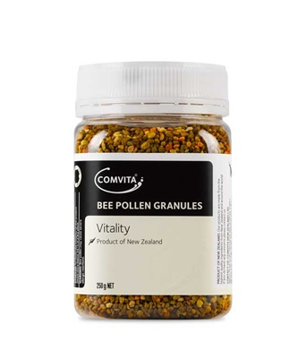 Comvita® Bee Pollen is known as a 'natural multi-vitamin' as it is a source of essential vitamins, minerals, amino acids and enzymes.    Comvita® Bee Pollen is collected by the honeybees from the forests and pastures of New Zealand, carefully dried and processed to ensure there is no damage or oxidation of the vital nutrients.