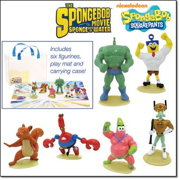 The SpongeBob Movie 8-Piece Toy Set