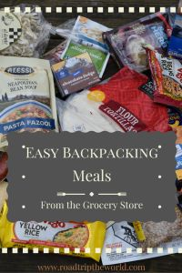 Backpacking Meals From the Grocery Store with printable shopping list -lightweight, cheap and delicious meals you can make in the backcountry with everyday food items from the store.