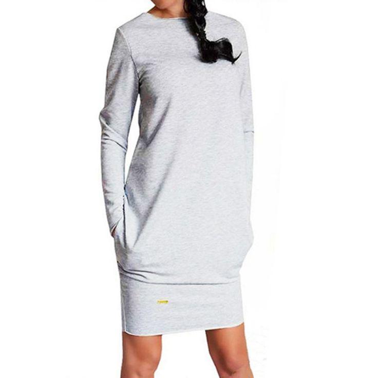 2016 Sexy Women Long Sleeve Warm Dress Sweatshirt Party Short Mini Jumper Dresses