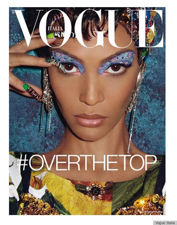Joan Smalls Vogue Italia March cover. Awesome...love the hashtag!
