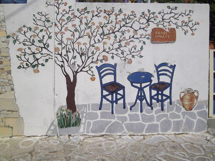 Kimolos Island#Kimolos Kiklades#Welcome Wall painting in Kimolos Kiklades#Greek Islands.