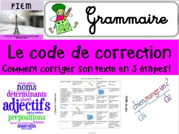 Ready to print and USE as an effective guide to improve your students' writing skills!Check out the PREVIEW FILE!This resource includes  a quick review of  the 5 steps to improve personal texts. It provides examples and a game to reinforce the concepts learned This package includes 20 colourful slides on the theme of: Le code de correction.This resource includes:5 tapes du code de correction: fiches individuelles5 tapes du code de correction en tableau5 tapes du code de correction: fiche…