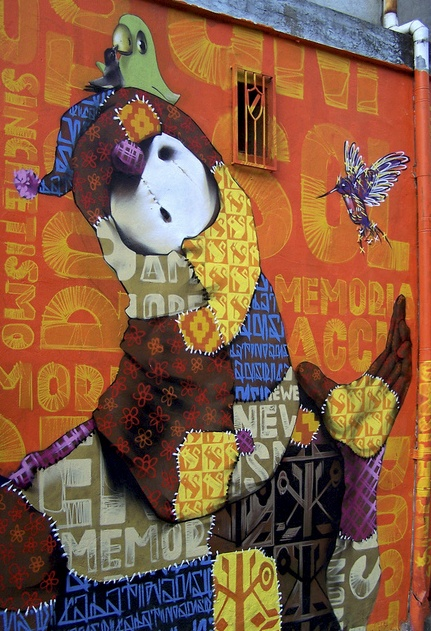 Inti Castro is an urban artist from Valparaiso (Chile), he was painting since 14 years old, his passion for color has been making progress from his first lines on the walls to the impressive murals painting today.