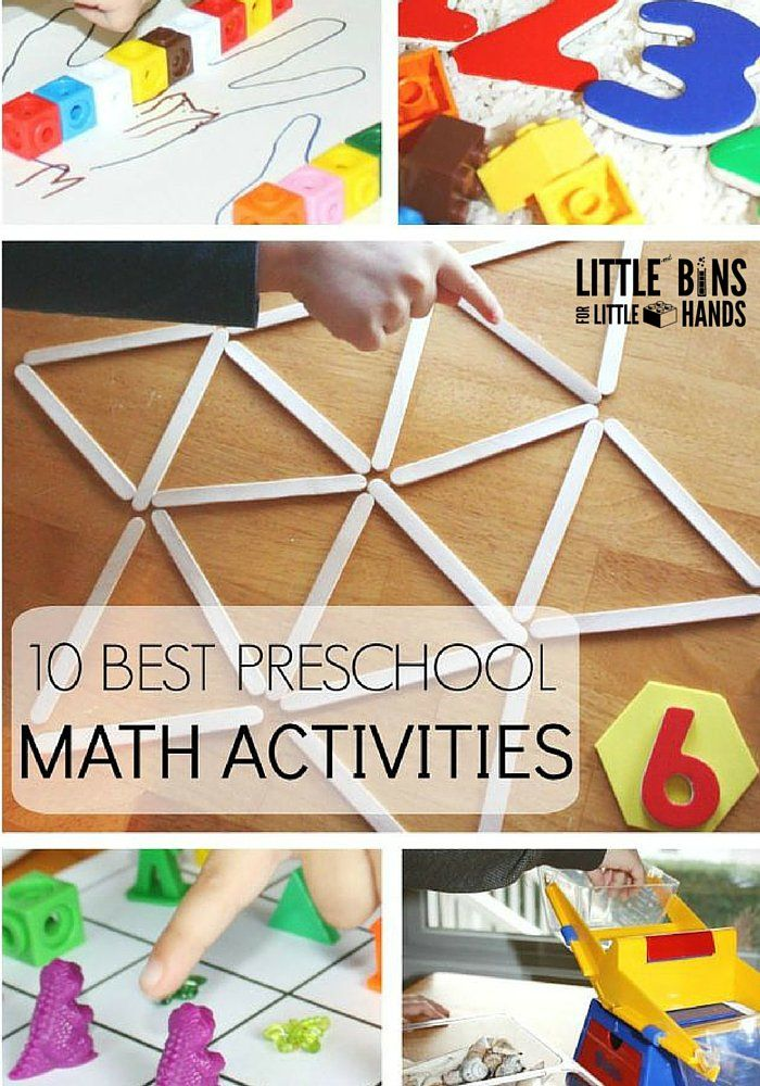 Preschool Math Activities for Back to School Early Learning