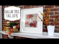 DOLLAR TREE FALL DIYS | Fall Decor 2015