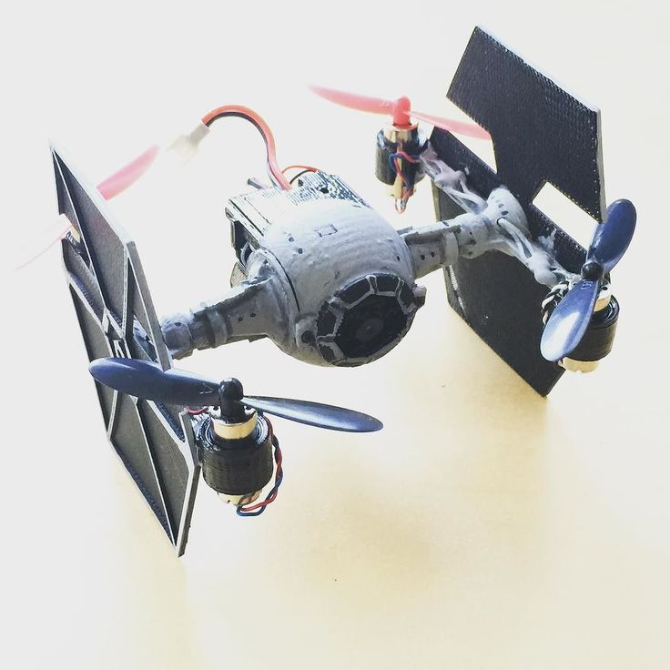 Redesigned the original tie fighter conversion kit to be able to use all the parts from a h107c hubsan. Now the camera module can be installed looking out the front  Download print and build one now  http://ift.tt/1yi35dB  #hubsan #drone #quadcopter #3dprinting #maker #diy #starwars #tiefighter #custom #imperial by cuddleburrito