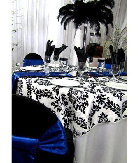 Black And Royal Blue Wedding