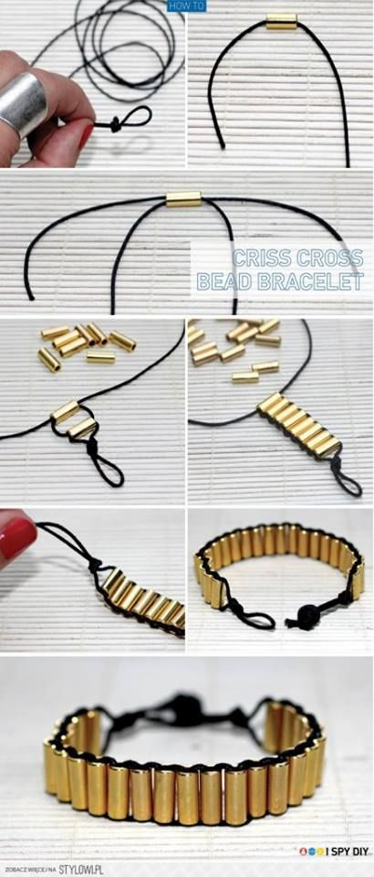 DIY GOLD BRACELET  LOVE IT  straws painted gold