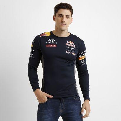 Camiseta Red Bull Funcional Teamwear M/L - Marinho