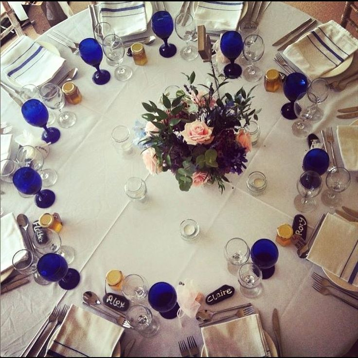 Our stunning blue glassware