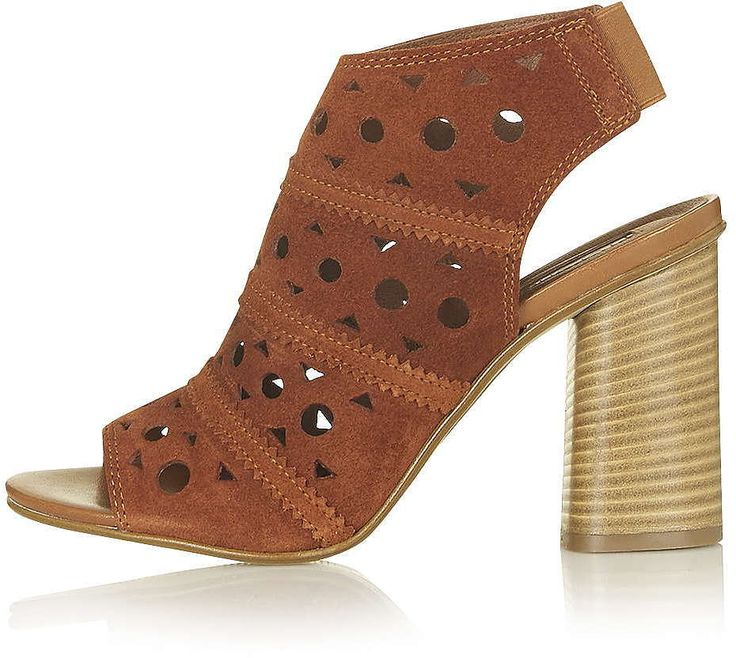 Womens windsor tan nuvo lasercut sandals from Topshop - £58 at ClothingByColour.com