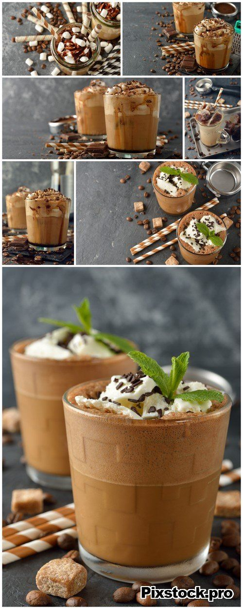 Cold frappe coffee with cream 7X JPEG