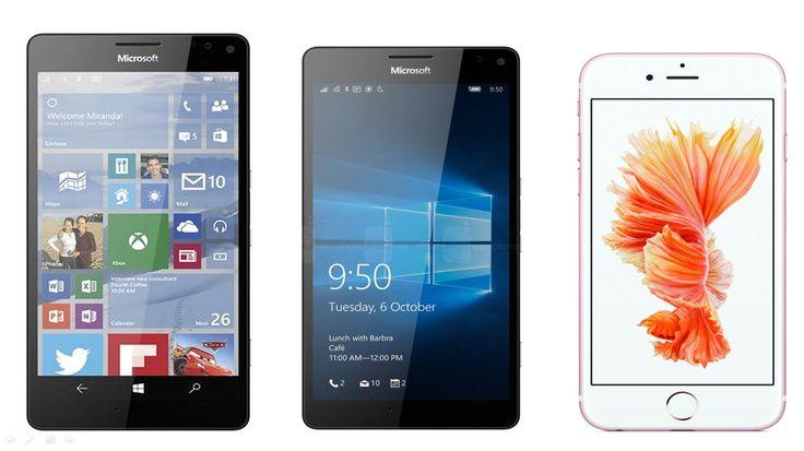 Microsoft Lumia 950 XL vs Lumia 950 vs iPhone 6s Plus