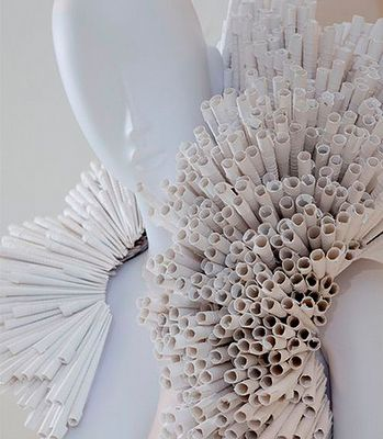paper collar, would be cool if constructed out of cigarettes as well...