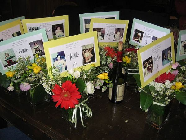 Photo Centerpieces Easy Table Centerpieces Using