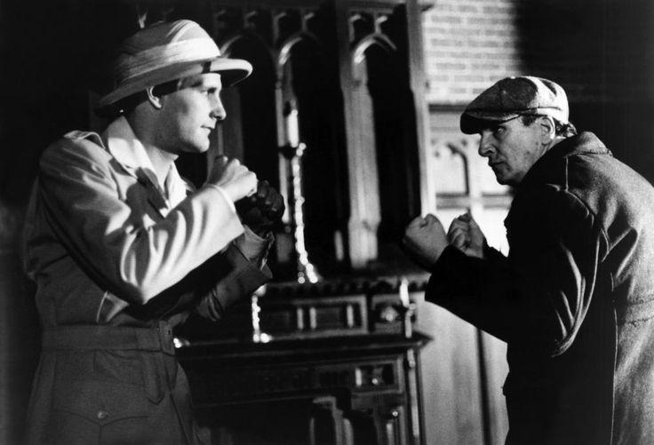 Jeff Daniels and Danny Aiello (Monk) in Purple rose of Caïro uit 1985.