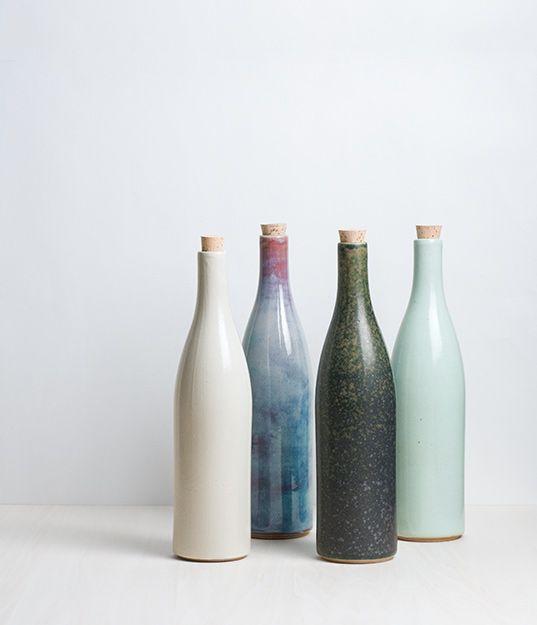 De simples bouteilles d'art