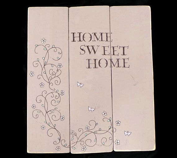 Home Sweet Home Wood Sign, New House Gift Idea, Reclaimed Wood Rustic Home ware, Original Gift for the Home, Handmade Pallet Wall Art