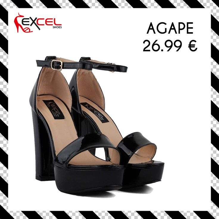 Total black! Agape 26.99€ 🚚 Δωρεάν μεταφορικά για Ελλάδα Shop: https://goo.gl/nOuQRy #excelshoes #ss17 #spring #summer #2017 #shoes #women #womenfashion #heels #thessaloniki #papoutsia #gunaika #παπουτσια #moda