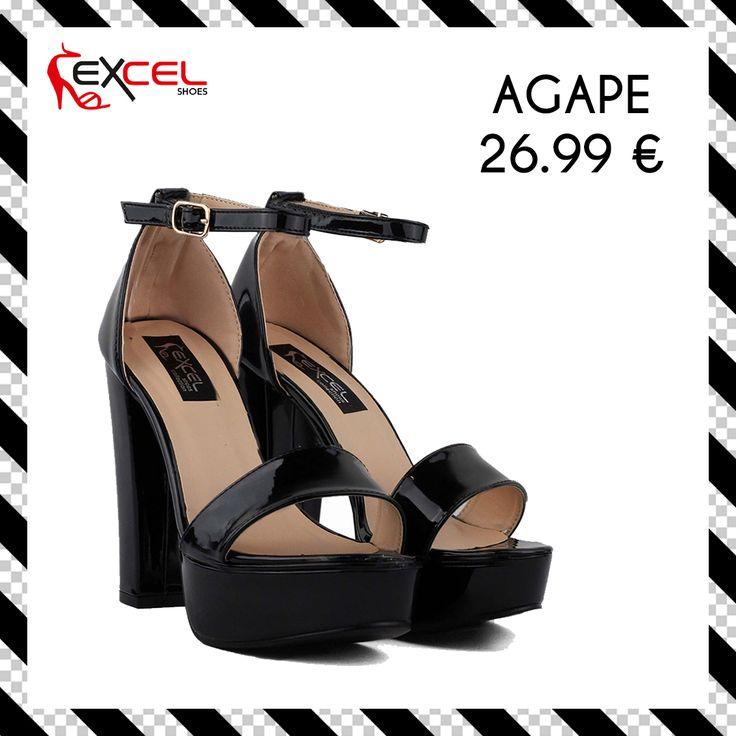 Total black! Agape 26.99€ 🚚 Δωρεάν μεταφορικά για Ελλάδα Shop: https://goo.gl/nOuQRy #excelshoes #ss17 #spring #summer #2017 #shoes #women #womenfashion #heels #thessaloniki #papoutsia #gunaika #παπουτσια #moda