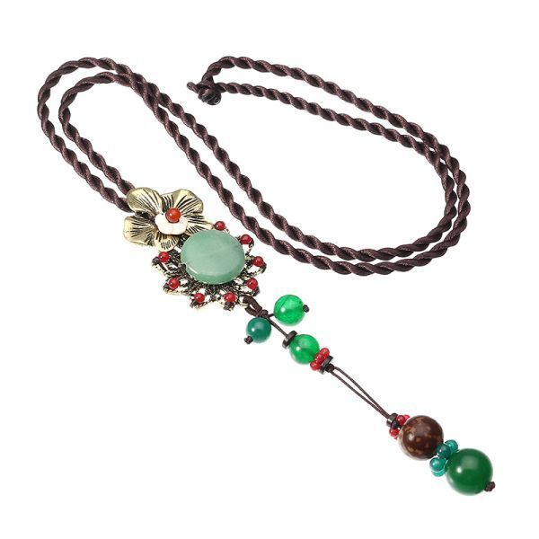 Necklace pendants and their meanings ethnic vintage necklace retro flower pendant jade rope necklace for women #gold #necklaces #pendants #singapore #necklace #pendants #argos #necklace #pendants #for #mothers #necklace #slides #pendants