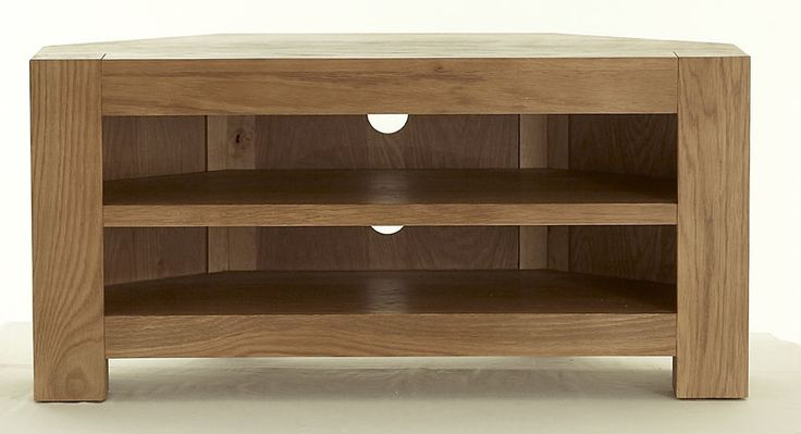Richmond Chunky Oak Corner TV Unit / Stand / Cabinet ...