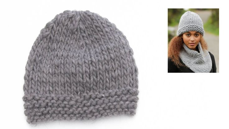 How to knit the easy hat Grey Wind in DROPS 173-25