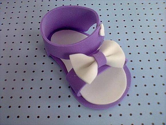 Sandalinhas em EVA para lembrancinhas de chá de bebê, ou maternidade. Pedido mínimo 20 unidades R$ 2,00