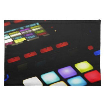 Digital Music Dj Technology Sequencer Samples Cloth Placemat - sample design diy personalize idea