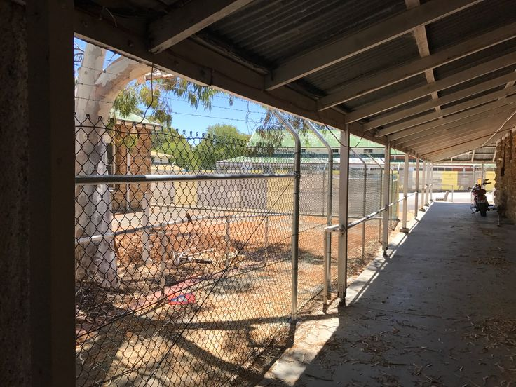 Chain mesh fence installed at heritage listed buildings - Sir John Forrest walkway.