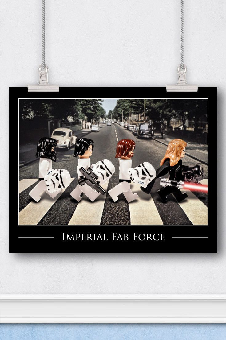 Star Wars™ LEGO® Art: The Beatles Abbey Road Cover Parody