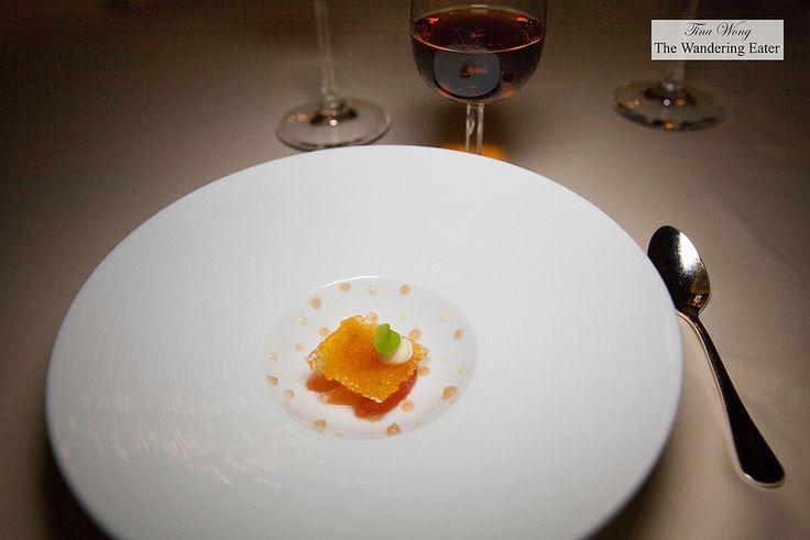 Pre-dessert - Grapefruit with caramel sheet - Tina Wong
