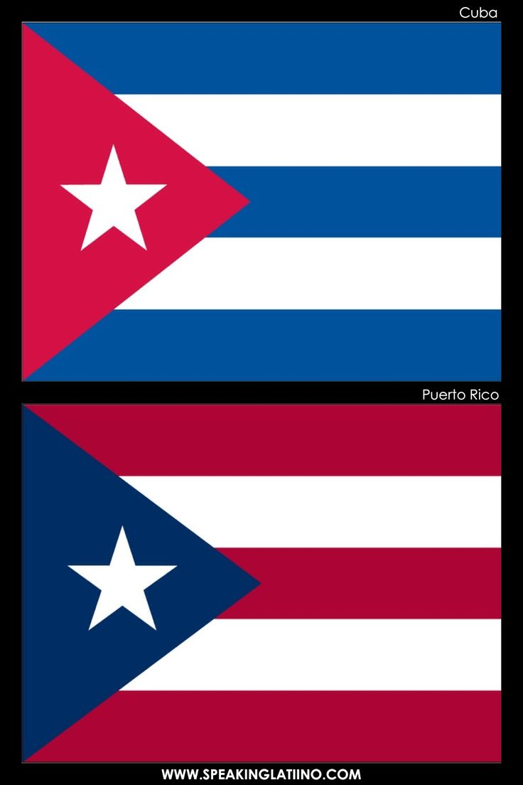 Hispanic Flags With Similar Flags from Around the World. CUBA AND PUERTO RICO: A SYMBOL OF BROTHERHOOD.  .@Jorge Cavalcante (JORGENCA)