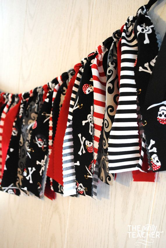 Pirate Fabric Tie Garland + 10% Off Party Supplies Coupon | The Party Teacher | $29