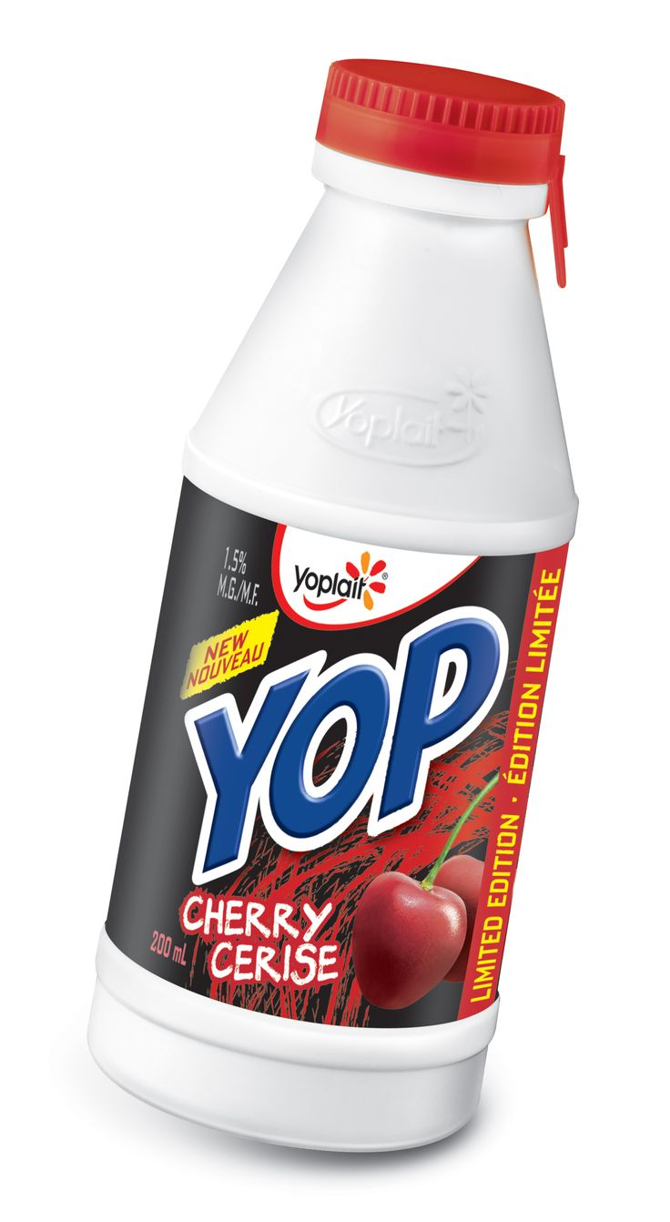 Packaging Design Inspirations from Forthought Branding+Design: New packaging for Yoplait Cherry Yogurt, limited edition. Easy to open and drink on the go. Look for them in stores now! (#Innovative #Packaging #Design #forthought #branding #package #design #yoplait)
