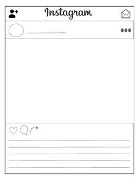 Instagram template- full page, or four to a page!