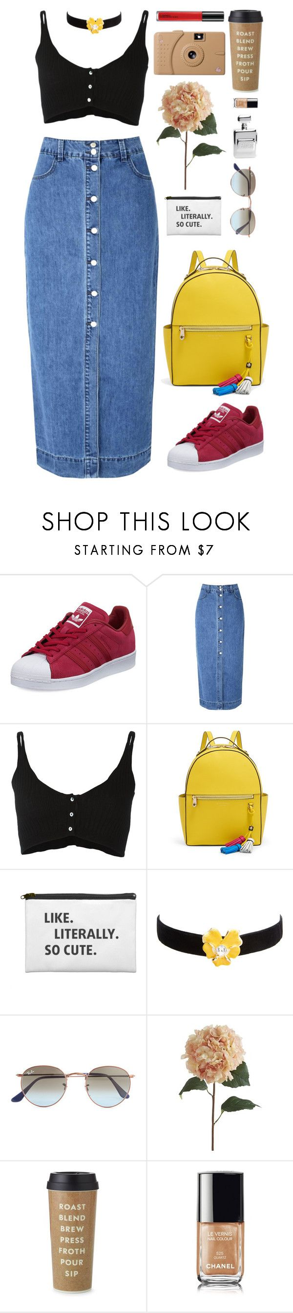 """be original"" by chanelniall ❤ liked on Polyvore featuring adidas, Glamorous, Forte Forte, Henri Bendel, Kenneth Jay Lane, Ray-Ban, Pier 1 Imports, Poketo, Kate Spade and Chanel"