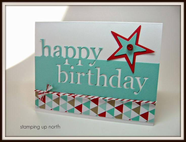 Stamping Up North with Laurie: The Paper Players challenge - Happiest Birthday Wishes - Stars Framelits - Fresh Prints DSP - Memory Box Grand Happy Birthday Die 98838