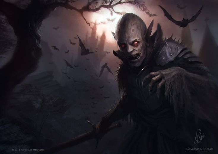 Vampire Illustration by RaymondMinnaar on DeviantArt