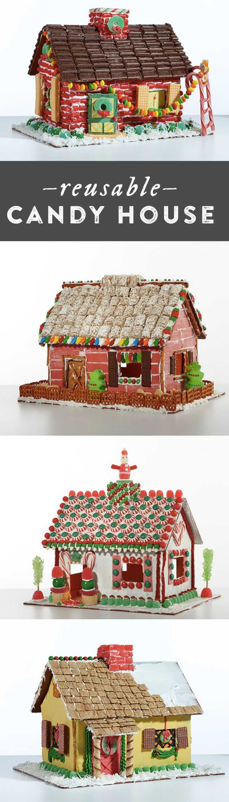 DIY holiday gingerbread houses just got easier. This house is reusable –just wash, and redecorate.