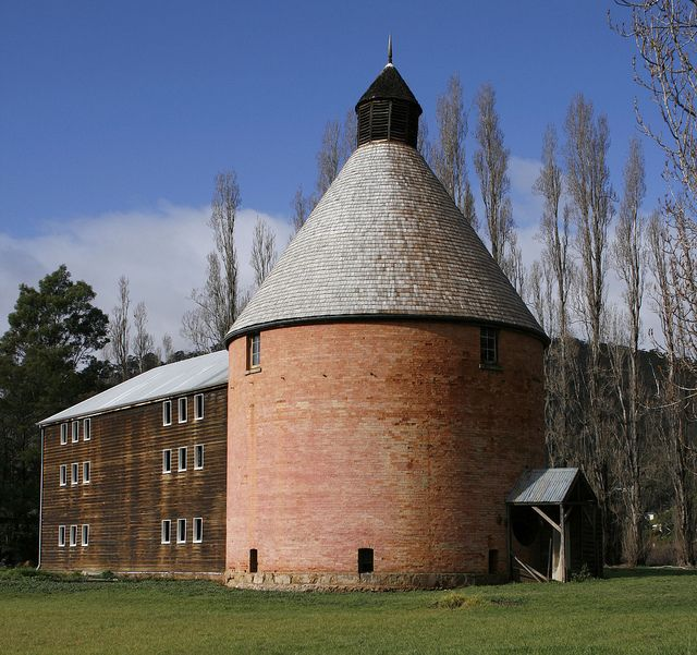 Oast house in New Norfolk, was part of the Hop growing industry, Derwent Valley