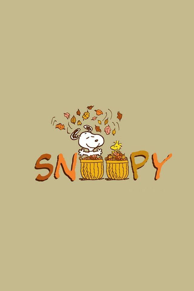 Peanuts Fall Iphone Wallpaper Snoopy Screensavers Impremedia Net